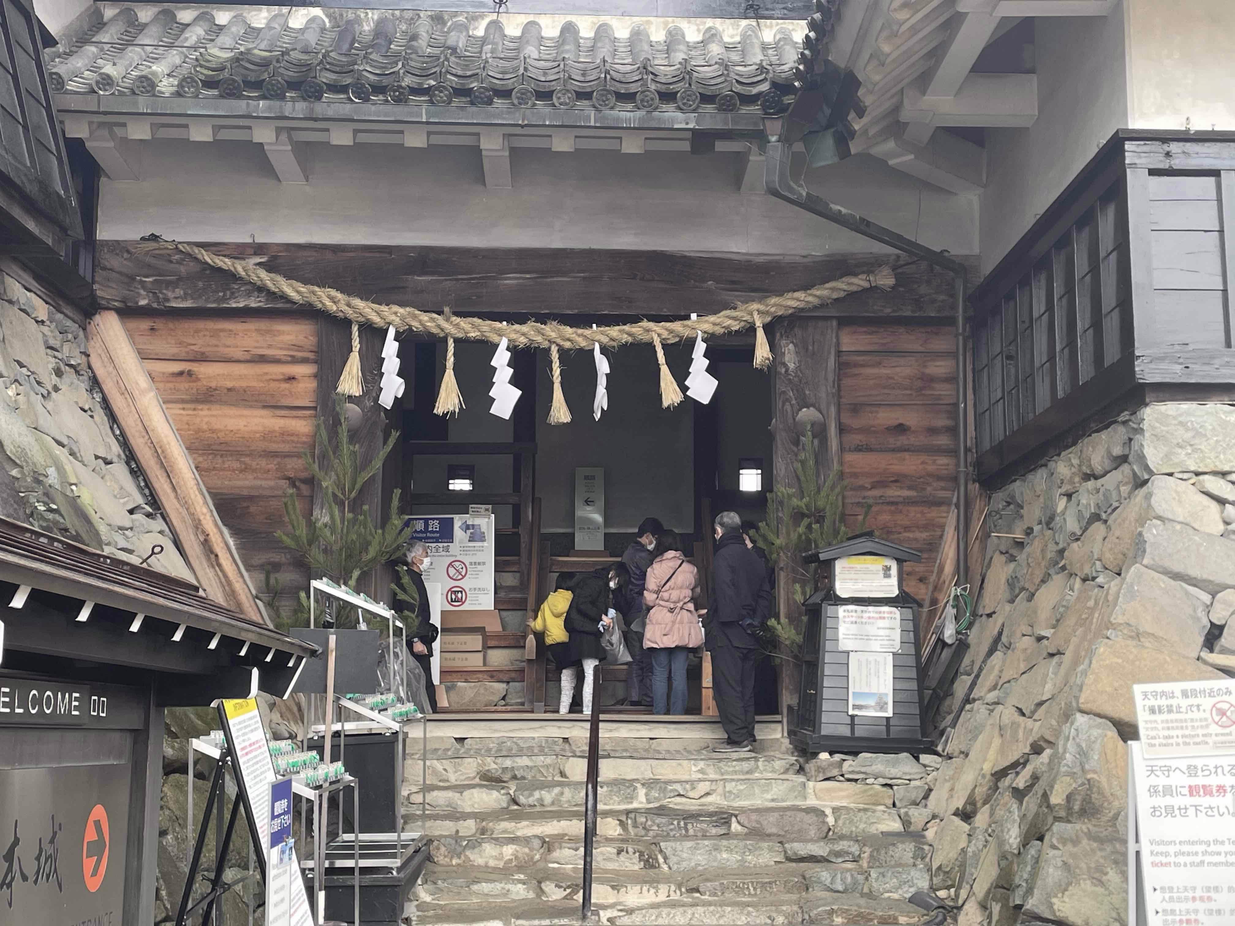 松本城としめ縄飾り